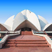 The Lotus Temple, Located In New Delhi Poster