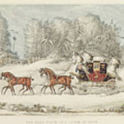 The Mail Coach In A Storm Of Snow 1825 Poster