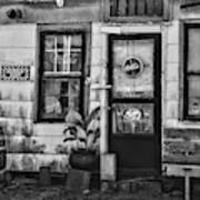 The Old Country Store Black And White Poster