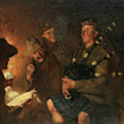 The Pipes By Firelight Poster