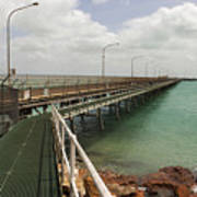 The Port Of Broome With A Mesh  Walk Poster