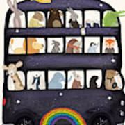 The Rainbow Bus Poster