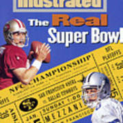 The Real Super Bowl, 1995 Nfc Championship Preview Sports Illustrated Cover Poster