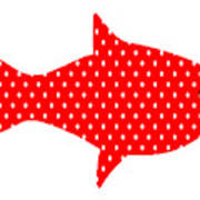 The Red Polka Dot Fish Poster