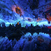 The Reed Flute Cave, In Guangxi Province, China Poster