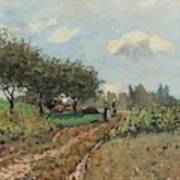The Road At Campagne, 1876 Poster