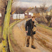 The Road Through The Village Of Ring Poster