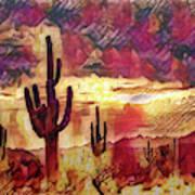 The Sonoran Saguaro  Poster