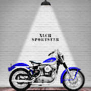The Sportster Vintage Motorcycle Poster
