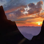 The Window At Sunset, Big Bend National Poster