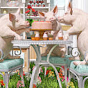 Three Little Pigs And The Birthday Cake Poster