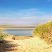 Through The Dunes Over To Budle Bay Poster