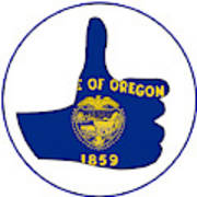Thumbs Up Oregon Poster
