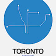 Toronto Blue Subway Map Poster
