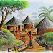 Traditional Village Poster