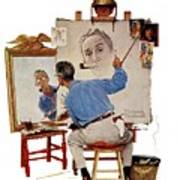 Triple Self-portrait Poster