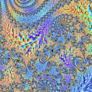 Trippy Vibrant Fractal  Poster