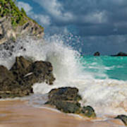 Tropical Beach Splash Poster