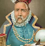 Tycho Brahe Illustration Poster