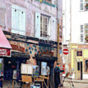 Un Artiste A La Place Du Tertre Paris. Poster
