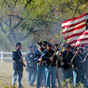 Union Infantry Advance Poster