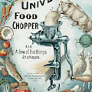 Universal Food Chopper No. 2  1899 Poster