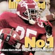 University Of Alabama Derrick Lassic, 1993 Usf&g Financial Sports Illustrated Cover Poster