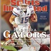 University Of Florida Florida Qb Tim Tebow, 2009 Fedex Bcs Sports Illustrated Cover Poster