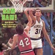 University Of Kentucky Sam Bowie Sports Illustrated Cover Poster