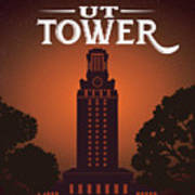 University Of Texas Tower Poster
