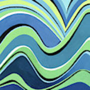 Untitled  Abstract Blue And Green Poster