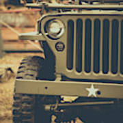 Us Army Jeep World War II Poster