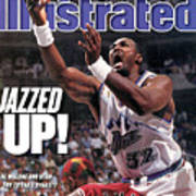 Utah Jazz Karl Malone, 1997 Nba Finals Sports Illustrated Cover Poster