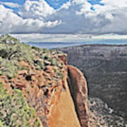 Valley Colorado National Monument Sky Clouds 2892 Poster