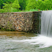 Valley Creek Waterfall Panorama Poster