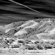 Valley Of Fire Black White Nevada  Poster