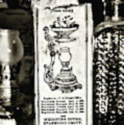 Vapo-cresolene Vaporizer Liquid Poison Original Packaging Black And White Poster