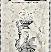 Vapo-cresolene Vaporizer Original Packaging Black And White Poster