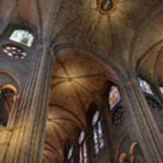 Vaults Of Notre Dame De Paris Before The Fire Of 2019 Poster