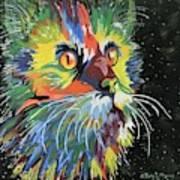 Vibrant Cat Poster