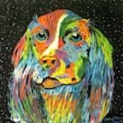 Vibrant Dog Poster