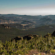 View From Flattop Mountain Trail Poster