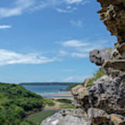 View From Pennard Castle Portrait Poster