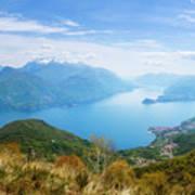 View From Rifugio Menaggio Lake Como Italy Poster