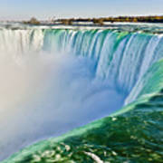 View From The Edge Of Niagara Falls Poster