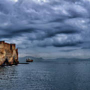 View Of Castel Dell Ovo  Poster