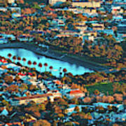 View Of Molteno Reservoir - Cape Town Poster