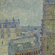 View Of Paris From Theos Apartment In The Rue Lepic, 1887  Poster