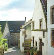 village cobbled lane in Culross Poster