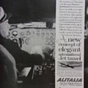 Vintage Alitalia Airline Advertisement Poster